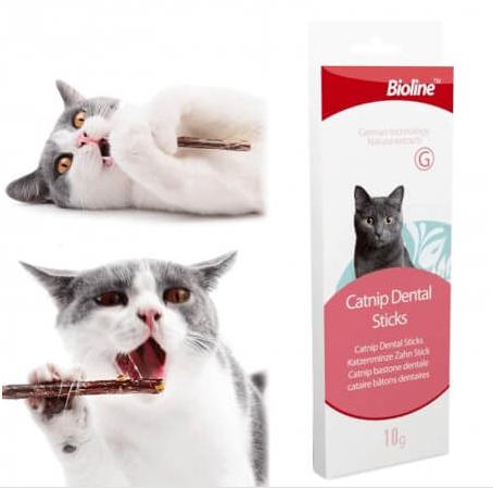 Bioline Kedi Tartar Önleyici Catnip Dental Sticks 10 Gr