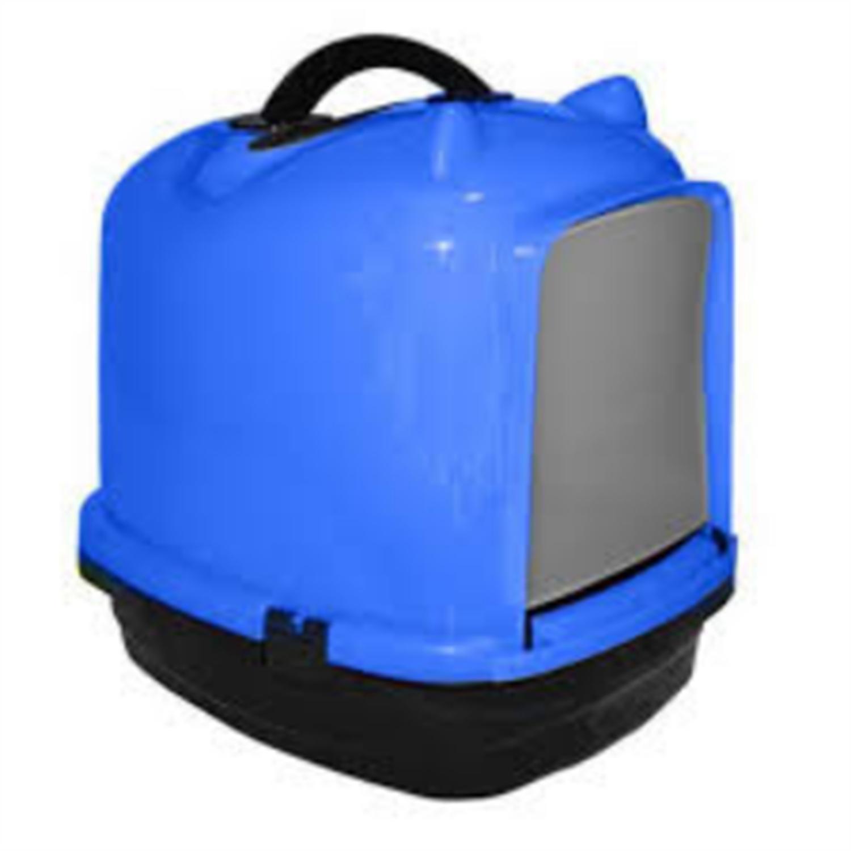 Pratik Comfort Kulaklı Kapalı Kedi Tuvalet Kabı Mavi 49.5X40X50 cm