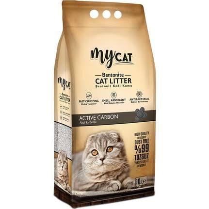 My Cat 10 Lt İnce Aktif Karbonlu Bentonit Kedi Kumu