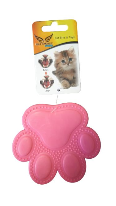 Multimagic Dental Kedi Diş Kaşıma Oyuncağı Pati Pembe 9 cm