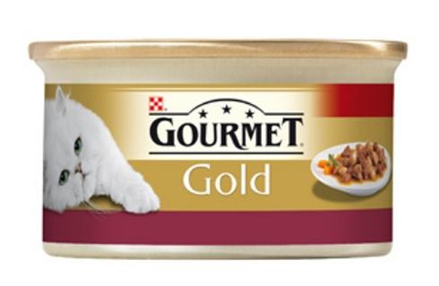 Gourmet Gold Tavuklu Ciğerli Parça Etli Kedi Konservesi 85 Gr