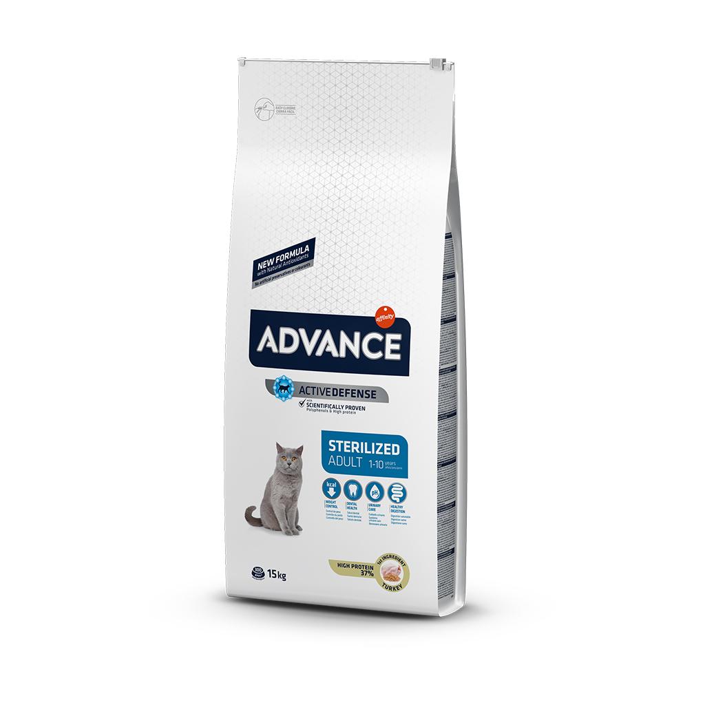 Advance Hindili Kısırlaştırılmış Yetişkin Kedi Maması 15 Kg
