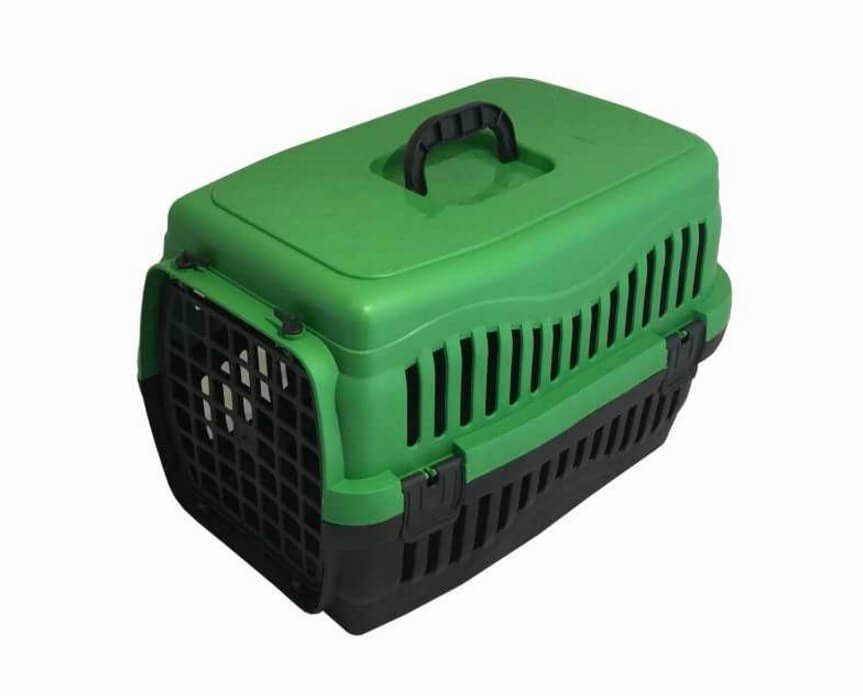Pratik Kedi-Köpek Taşıma Kafesi 48,5x32x32 cm Yeşil