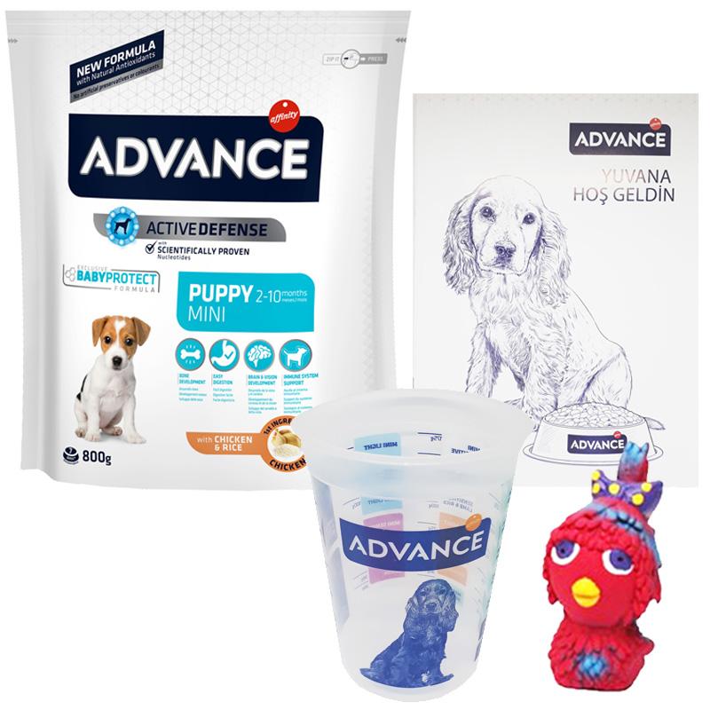 Advance Mini Puppy Yavru Köpek Başlangıç Maması 800 g Hediyeli