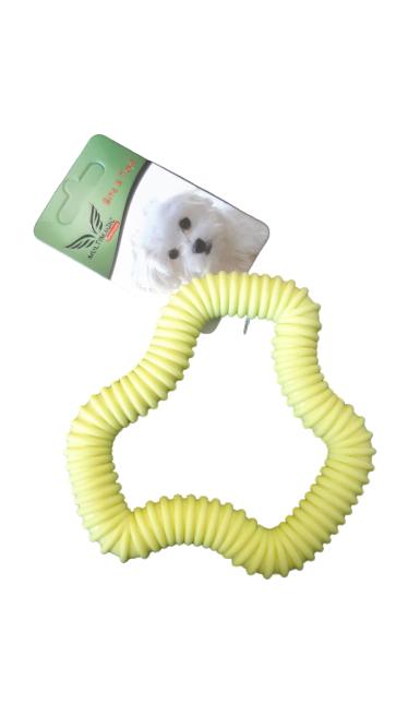 Multimagic Dental Köpek Diş Kaşıma Oyuncağı Altıgen Sarı 12 cm