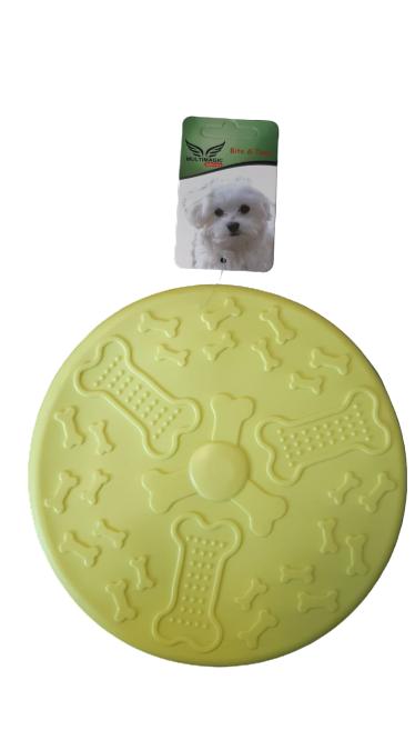 Multimagic Köpek Oyuncağı Frizbi Yumuşak Plastik Sarı 18 cm