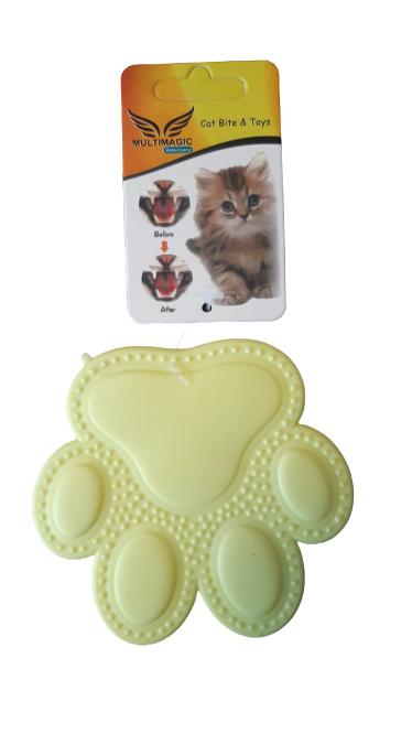 Multimagic Dental Kedi Diş Kaşıma Oyuncağı Pati Sarı 9 cm