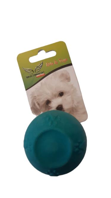Multimagic Köpek Diş Kaşıma Oyuncağı Sert Top Turkuaz 5 cm