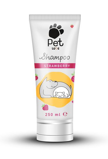 Pet Love Strawberry Tüp Kedi  Köpek Şampuanı Çilekli 250 ml