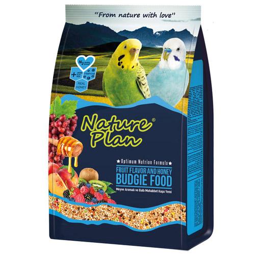 Nature Plan Meyva Aromalı+Ballı Muhabbet Kuşu Yemi 1000 Gr