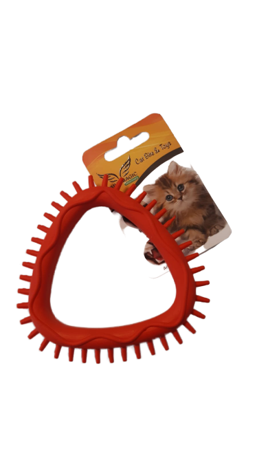 Multimagic Kedi Diş Kaşıma Oyuncağı Kırmızı 10 cm
