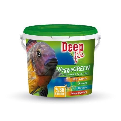 Deep Fix Weggie Green (Bitkisel Granül Balık Yemi) 3000 Gr