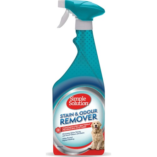 Simple Solution Köpekler için Leke ve Koku Giderici Spray 750 ml