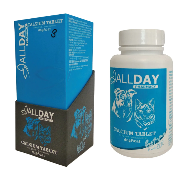 AllDay Calcium Kedi  Köpek Tablet 75 gr