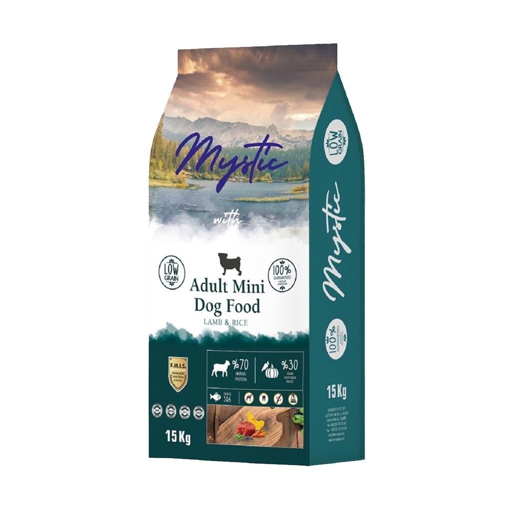 Mystic Az Tahıllı Yetişkin Köpek Maması Mini Orta Kuzulu 15 kg