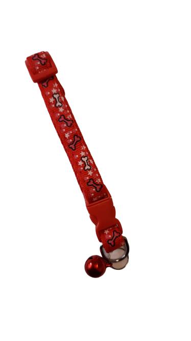 Pratik Zilli Kedi Tasması Kırmızı 15-25 cm