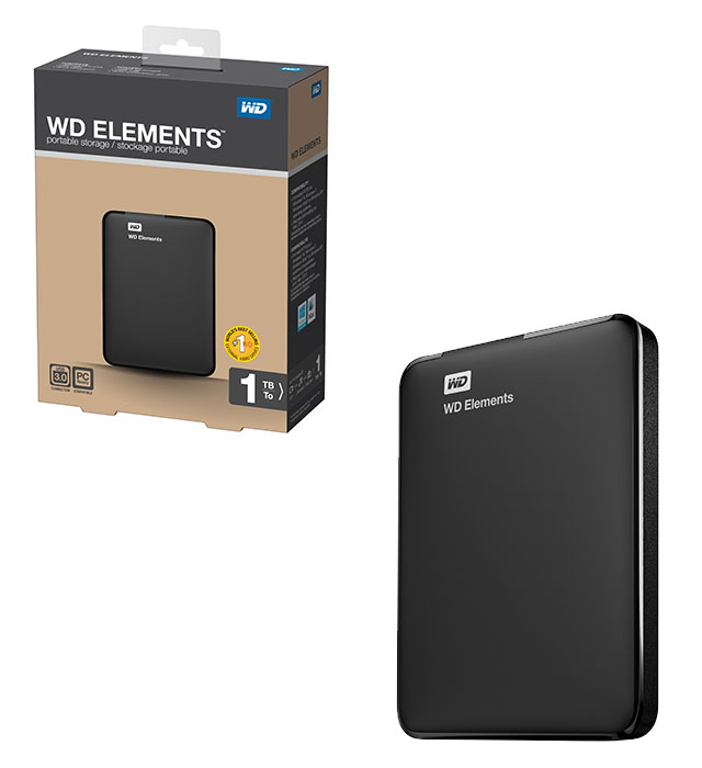 WD 1TB 2.5 USB3.0 WDBUZG0010BBK ELEMENTS SİYAH ...