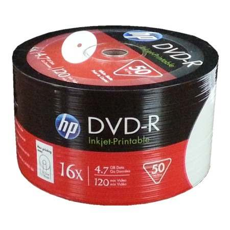 HP DVD-R 50Lİ 4,7gb-120min 16x SHRİNK ...