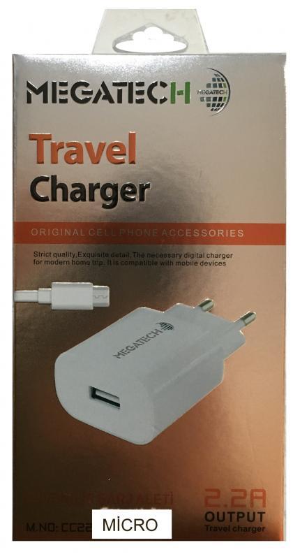 MEGATECH CC22  2.2A 2 USB ŞARJ & MİCRO KABLO ...
