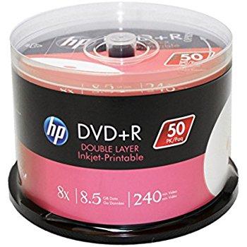 HP DVD+R 8.5GB DL 240MIN 8X 50Lİ CAKEBOX PRINTABLE ...